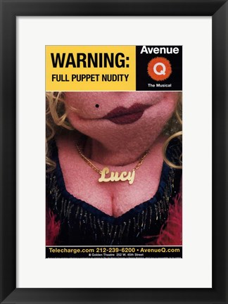 Framed Avenue Q (Broadway) - style A Print