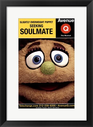 Framed Avenue Q (Broadway) - style B Print