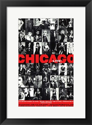 Framed Chicago (Broadway) - style B Print