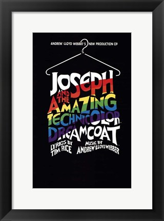 Framed Joseph and the Amazing Technicolor Dreamcoat (Broadway) - style A Print