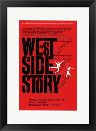 Framed West Side Story Red Print