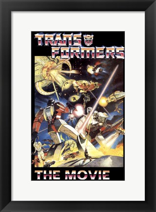Framed Transformers: The Movie - style C Print