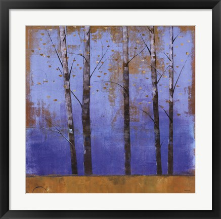 Framed Birch Trees I Print
