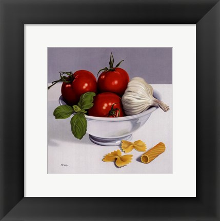 Framed Italian Cooking Print