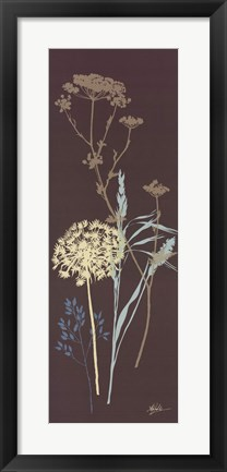Framed Chocolate Meadow Grass Print