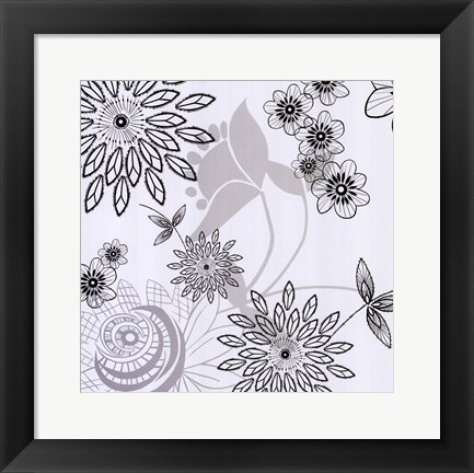 Framed White Shadow  Lace Print