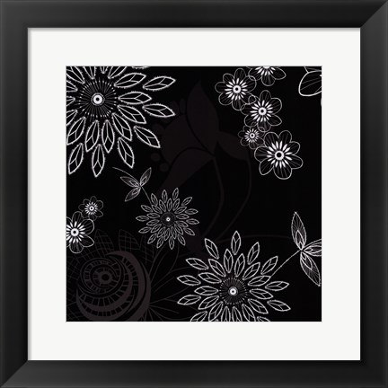 Framed Shadow Lace Floral Print