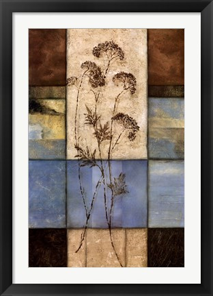 Framed Highland Wildflowers I Print