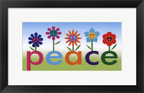 Framed Peace Garden Print