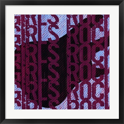 Framed Girls Rock Print