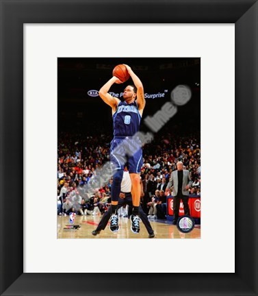 Framed Deron Williams 2008-09 Action Print