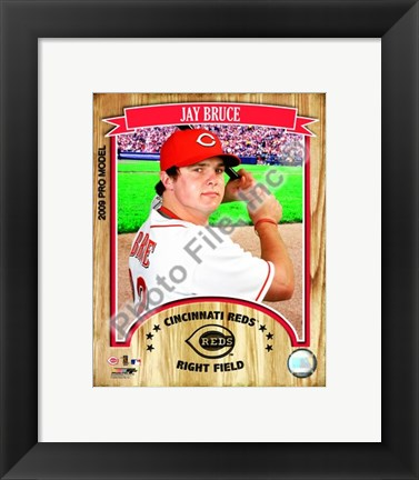 Framed Jay Bruce - 2009 Studio Plus Print