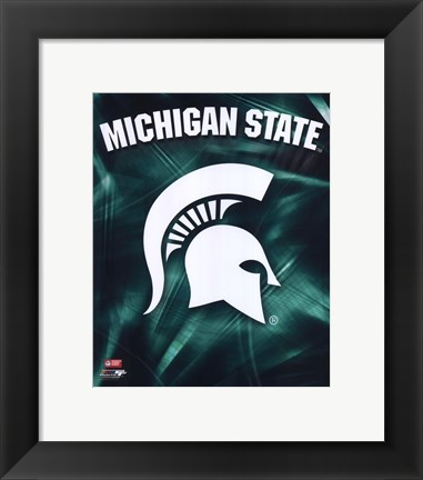 Framed Michigan State University Spartans Logo Print