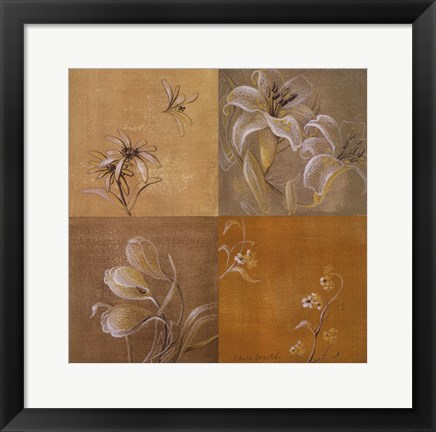 Framed Flowers of the Night II Print