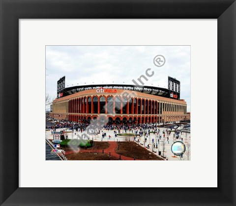 Framed Citi Field 2009 2009 Exterior View Print
