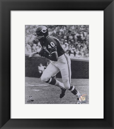 Framed Gale Sayers - Running Print