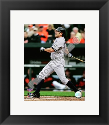Framed Johnny Damon 2009 Batting Action Print