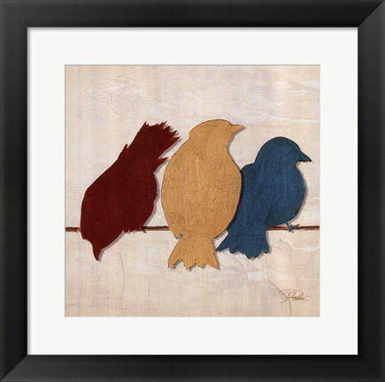 Framed Birds II Print