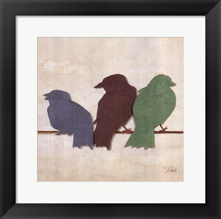Framed Birds III Print