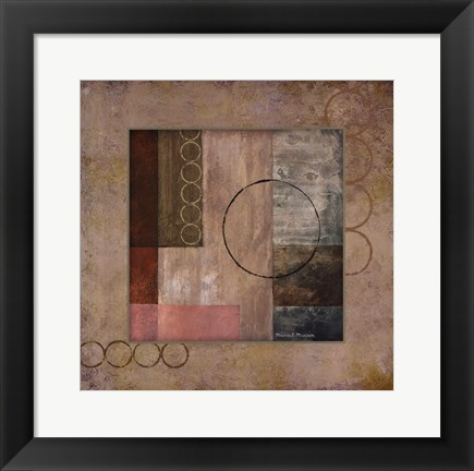 Framed Circles in the Abstract II Print