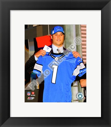 Framed Matt Stafford 2009 Draft Day Print