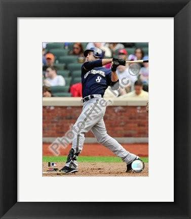 Framed Ryan Braun 2009  Batting Action Print