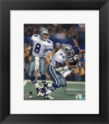 Framed Troy Aikman / Emmitt Smith Print