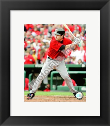 Framed Lance Berkman - 2009 Batting Action Print