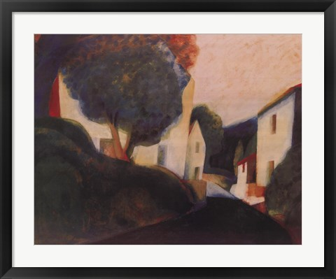Framed Road To Vence Print