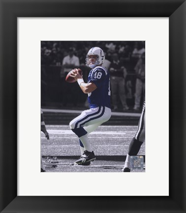 Framed Peyton Manning -  In the Spotlight Print