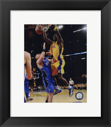 Framed Lamar Odom Game One of the 2009 NBA Finals  (#4) Print