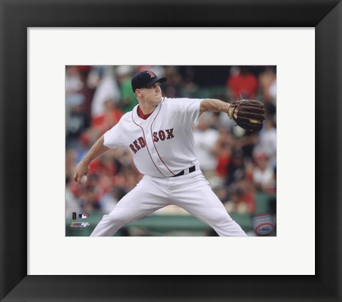 Framed Jonathan Papelbon - 2009 Pitching Action Print