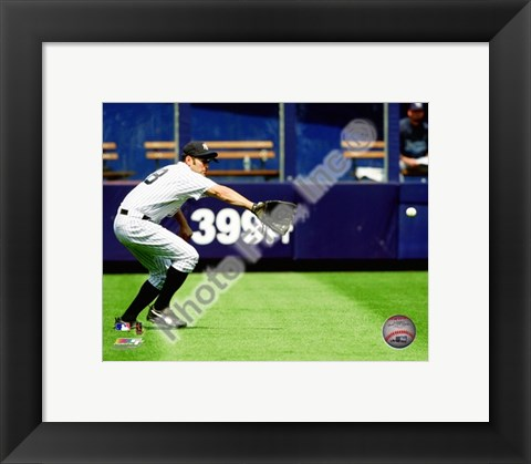 Framed Johnny Damon - 2009 Fielding Action Print