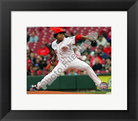 Framed Edinson Volquez - 2009 Pitching Action Print