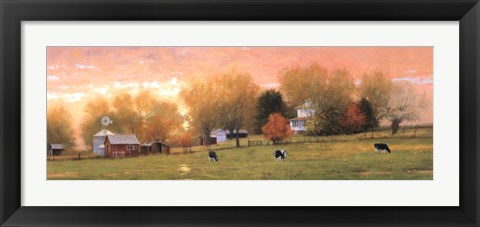 Framed Fall Pasture Print