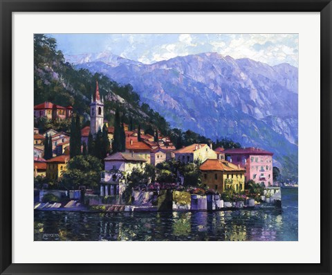 Framed Reflections of Lake Como Print