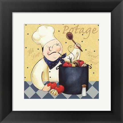 Framed Soup Chef Print