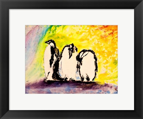 Framed Penguins Print