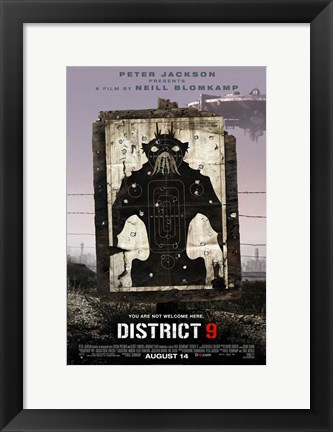 Framed District 9 - style C Print