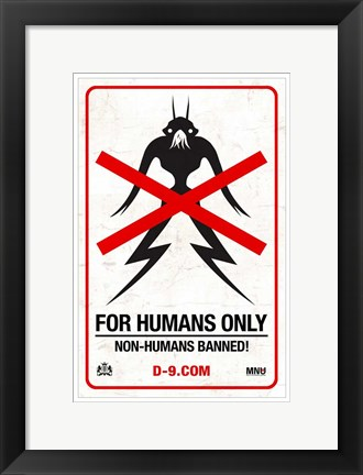 Framed District 9 - style D Print