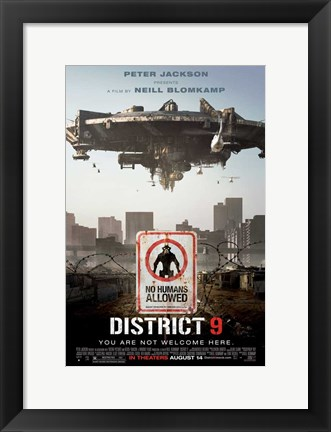 Framed District 9 - style E Print