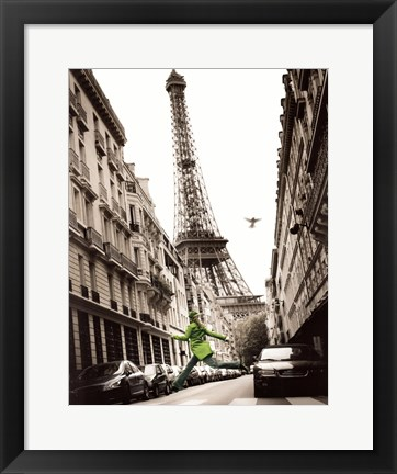 Framed Big Jump in Paris Print
