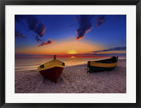 Framed Two Boats Print