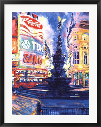 Framed Piccadilly Circus, London Print