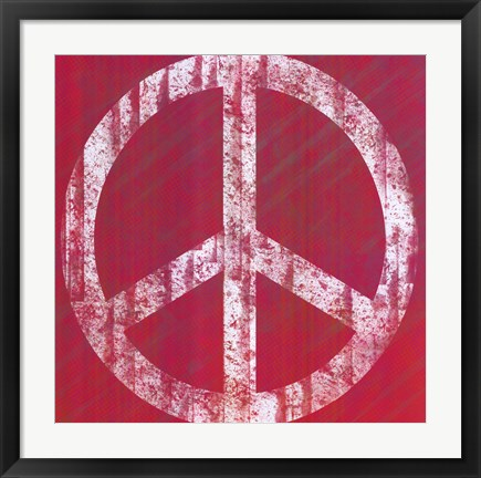 Framed Pink Peace Print
