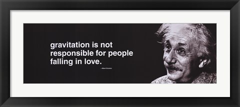 Framed Einstein - Gravitation (horizontal) Print