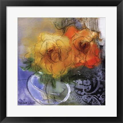Framed Bouquet II Print