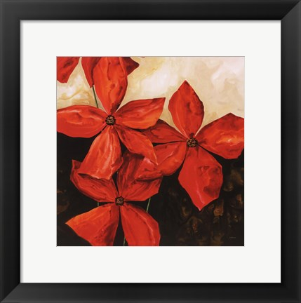 Framed Red Passion I Print