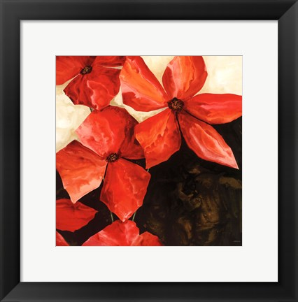 Framed Red Passion II Print