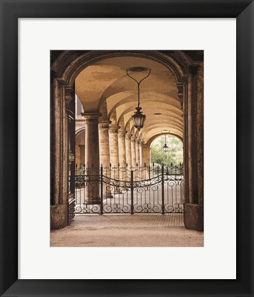 Framed Courtyard Colonnade Print
